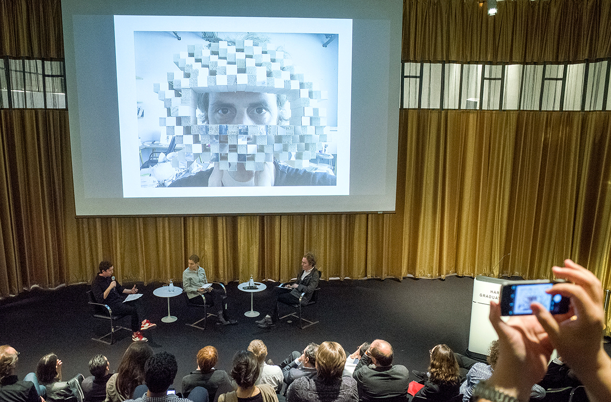 April 22, 2016 -- Architecture's interior matters in new ways today. This symposium explores a radically evolved epistemology through which to think interior and matter simultaneously, and to exercise their propensities in novels ways today. Organized by Kiel Moe, Associate Professor of Architecture and Energy, with Lucia Allais, Salmaan Craig, Billie Faircloth, Jon Lott, John May, Liam O'Brien, Sarah Oppenheimer, Hilary Sample, Richard Sennett, and James Weaver, at Piper Auditorium, Gund Hall, 48 Quincy Street, Cambridge, on Friday, April 22, 2016.
